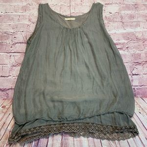 Prontomoda Giusy Womens XL Sleeveless Blouse